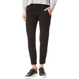 VINCE BLACK ZIPPER SLIM CARGO PANTS